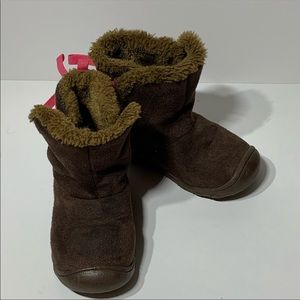 Carters Child of Mine Fleece Lined Brown Boots 6